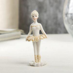 "Сувенир полистоун ""Маленькая балерина в пачке-цветке"" лак 6,5х2,5х3,5 см   4174714"