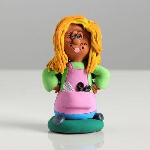"Сувенир-статуэтка малая ""Парикмахер"", 8,5 см, микс  3823993"