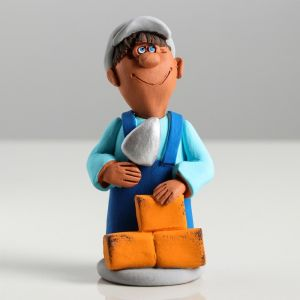 """Сувенир-статуэтка малая """"Строитель"""", 10 см, микс  3823986"""