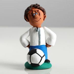 "Сувенир-статуэтка малая ""Футболист"", 10 см, микс, керамика"