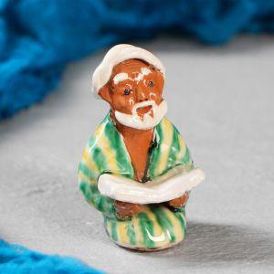 Фигурка керамическая Узбек с книгой 8 см 3554781