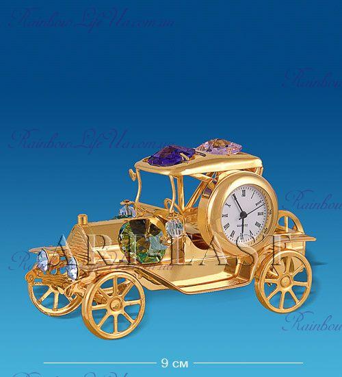 "Часы - фигурка Ретро - автомобиль с камнями ""Swarovski"""