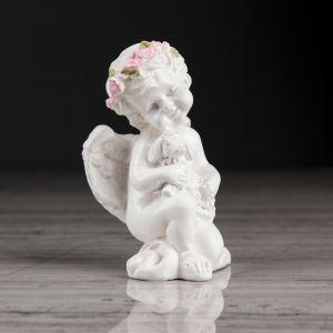"""Статуэтка """"Ангел с барашкой"""", разноцветный декор, 8 см"""