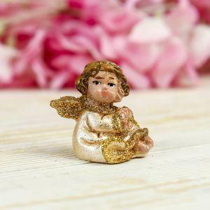 "Сувенир полистоун ""Ангел в жемчужном платье"" МИКС 4х4х3 см   3734535"