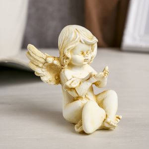 "Сувенир полистоун ""Ангел в тоге"" беж МИКС 8,2х8,8х8,2 см   3741023"