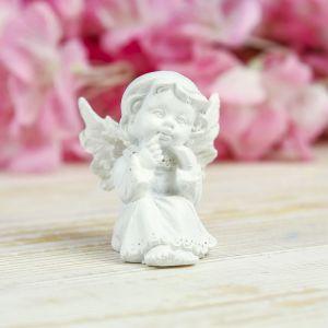 "Сувенир полистоун ""Белоснежный ангелочек в платье"" МИКС 5х4,5х4,5 см   3734553"