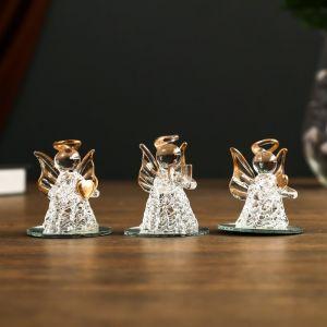 """Сувенир стекло """"Ангелочик на зеркале"""" 7х4,5х5,5 см МИКС 4984938"""