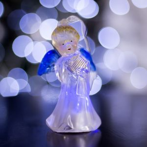 """Игрушка световая """"Ангел с арфой"""" (батарейки в комплекте) 1 LED, RGB, цветной 1353350"""