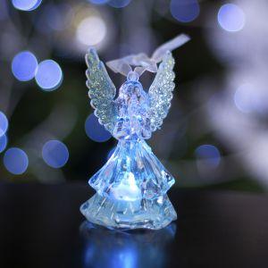"""Игрушка световая """"Ангел"""" (батарейки в комплекте) 1 LED, RGB, СЕРЕБРЯНЫЙ 1077322"""