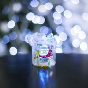 "Игрушка световая ""Подарок со снеговиком"" (батарейки в комплекте), 1 LED, RGB 602891"