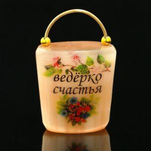 Сувенир «Ведёрко счастья», селенит 2392169