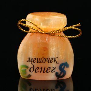 Сувенир «Мешочек денег», большой, селенит 2849033