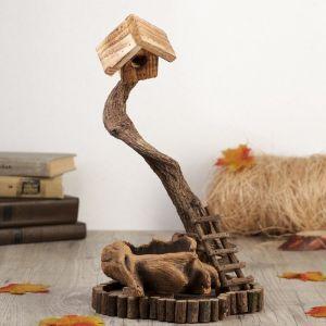 """Сувенир дерево """"Скворечник на дереве"""" 35,5х21,5х18,5 см   3483849"""