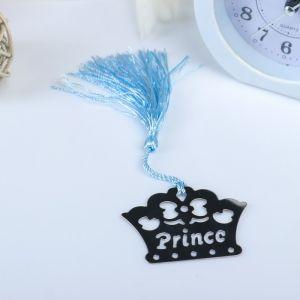 """Сувенир металл закладка для книги/подвеска """"Принц"""" 6х4,5 см 1381324"""