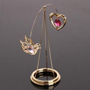 """Сувенир """"Голуби и карусель"""",  с кристаллами Сваровски 4966771"""