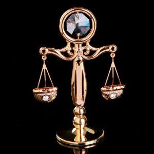 """Сувенир с кристаллами Сваровски """"Античные весы"""" 8,4х6 см   4266151"""