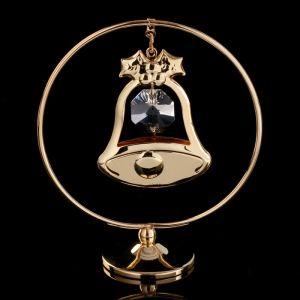 """Сувенир с кристаллами Сваровски """"Колокольчик"""" на подвеске 8х7,1 см   4266225"""
