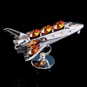 """Сувенир с кристаллами Сваровски """"Космический корабль"""" 9,7х6,6 см   4266172"""