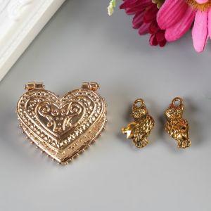 Любовный сундук с парой сов, 3,4 х 2,6 см   3281476