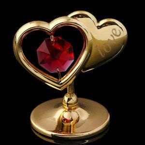 Сувенир «Два сердца», 4,5?4,5?3 см, с кристаллами Сваровски 2071727
