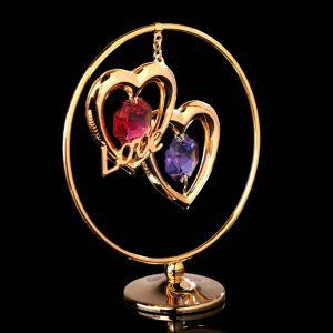 Сувенир «Сердца в кольце», 3?7?8 см, с кристаллами Сваровски 4015485