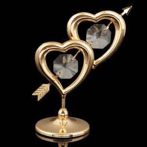 Сувенир «Сердца», 7?6?3 см, с кристаллами Сваровски 3244789