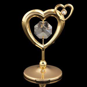 Сувенир «Сердце», 5,5х4х3 см, с кристаллами Сваровски 3244788