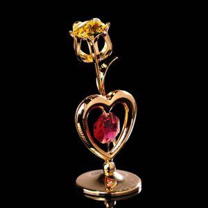 Сувенир «Тюльпан с солнцем», 3?3?8 см, с кристаллами Сваровски 4015487