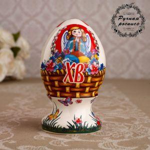 "Сувенир ""Яйцо большое. Корзинка"", 9 см   4748740"