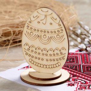 """Яйцо деревянное пасхальное сувенирное """"Старая Русь"""", 9?6 см 4962042"""
