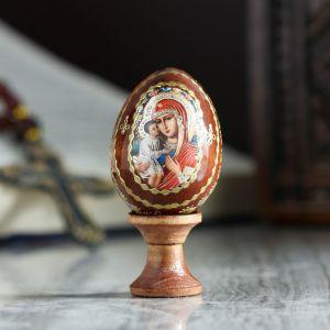 """Яйцо сувенирное """"Богоматерь Жировицкая"""", на подставке 4126812"""