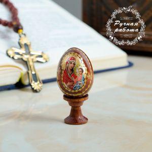 """Яйцо сувенирное """"Богоматерь Иверская"""", на подставке 4126813"""