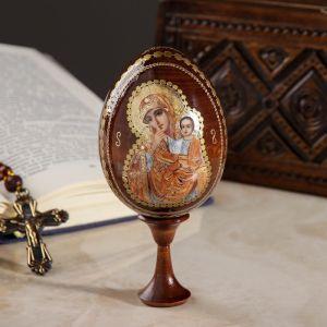 """Сувенир Яйцо на подставке икона """"Божья Матерь Отрада и утешение"""""""