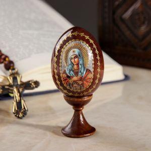 """Сувенир Яйцо на подставке икона """"Божья Матерь Умиление"""""""