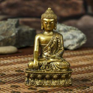 "Нэцке полистоун бронза ""Будда на медитации"" 12,1х7,5х5,7 см 3516525"