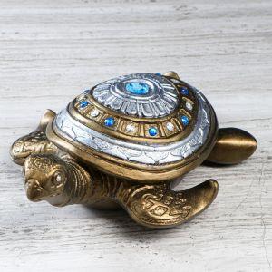 """Статуэтка """"Черепаха №3"""" бронза, камни, длина, 26см 5009023"""