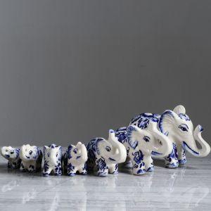 """Сувенир """"Семь слонов"""" набор из 7 шт"""
