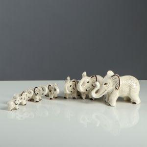 """Набор сувениров """"Слоны"""" под шамот (7 предметов)"""