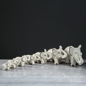 """Набор сувениров """"Слоны"""" глазурь (7 предметов)"""