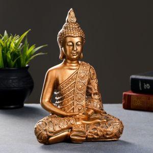 "Фигура ""Будда малый"" бронза 24х16х10см   3691437"