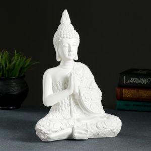 "Фигура ""Будда средний"" белый, 12х20х29 см   4376150"