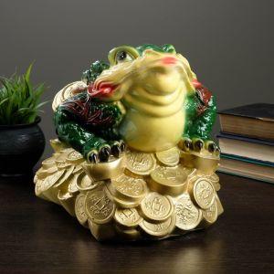"Фигура ""Лягушка на монетах"" цветная большая 34х25см  2122259"
