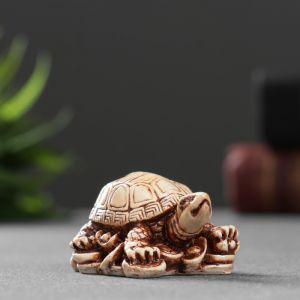 """Фигура """"Черепаха на золоте"""" 2,7х5х3,5см   4783463"""