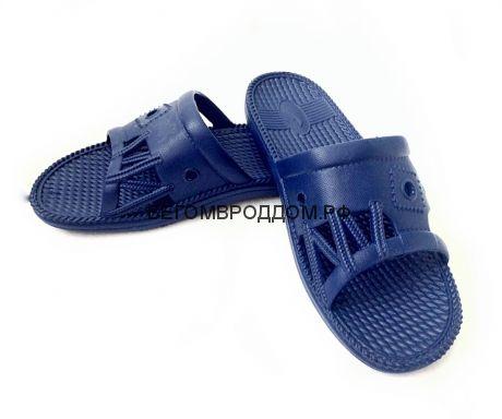 Тапочки р-р 40 «Верёвка», темно-синий