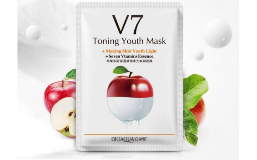Витаминная маска «BIOAQUA» из серии V7 с экстрактом яблока
