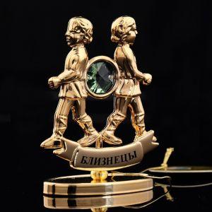 Сувенир знак зодиака «Близнецы», 9,5?4?6,5 см, с кристаллом Сваровски 798564