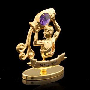 Сувенир знак зодиака «Водолей», 9,5?4?6,5 см, с кристаллом Сваровски 798572