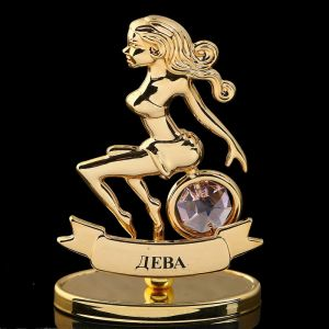 Сувенир знак зодиака «Дева», 7х2,3х9 см, с кристаллом Сваровски 798567