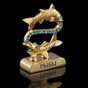 Сувенир знак зодиака «Рыбы», 5?2?5 см, с кристаллами Сваровски 798561