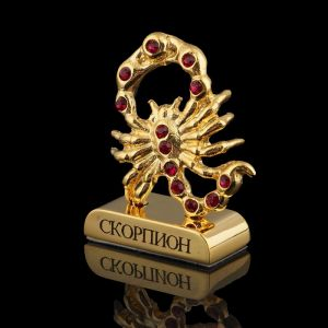 Сувенир знак зодиака «Скорпион», 5?2?5 см, с кристаллами Сваровски 798557